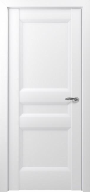 Фото -   Межкомнатная дверь Zadoor ПГ Ампир тип-N матовый белый   | фото в интерьере