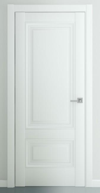 """Межкомнатная дверь """"Турин В2"""", пг, матовый белый"""