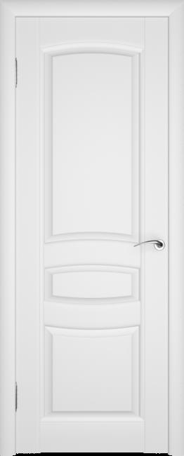 Фото -   Межкомнатная дверь ПГ Этюд Белая Эмаль   | фото в интерьере