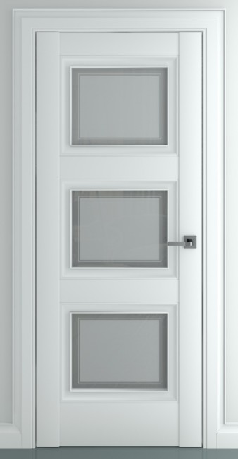 Фото -   Межкомнатная дверь Гранд В1, по, матовый белый   | фото в интерьере