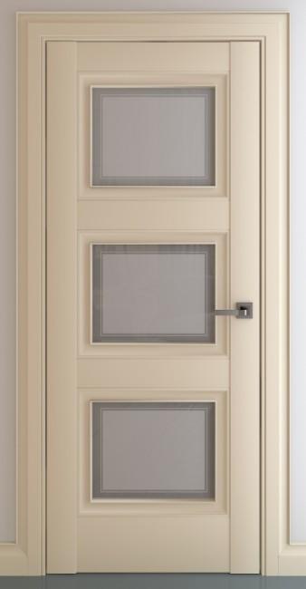 Фото -   Межкомнатная дверь Гранд В1, по, матовый крем   | фото в интерьере