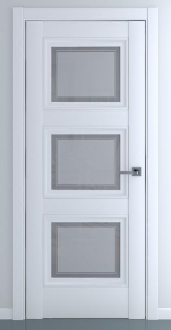 Фото -   Межкомнатная дверь Гранд В2, по, матовый белый   | фото в интерьере