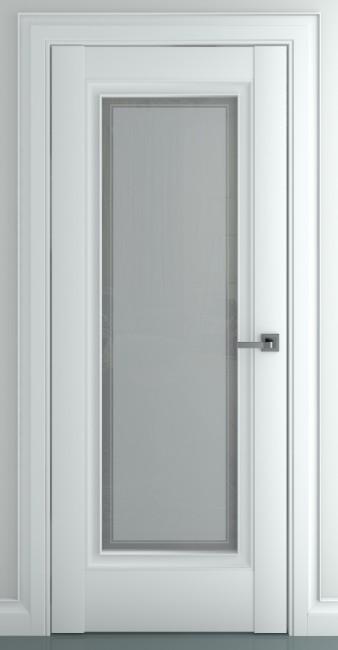 Фото -   Межкомнатная дверь Неаполь В1, по, матовый белый   | фото в интерьере