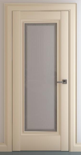 Фото -   Межкомнатная дверь Неаполь В1, по, матовый крем   | фото в интерьере