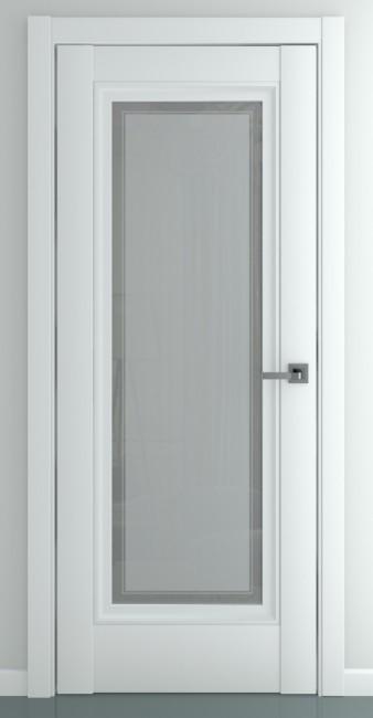 Фото -   Межкомнатная дверь Неаполь В2, по, матовый белый   | фото в интерьере