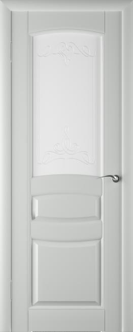 Фото -   Межкомнатная дверь ПО Этюд Грей Эмаль   | фото в интерьере