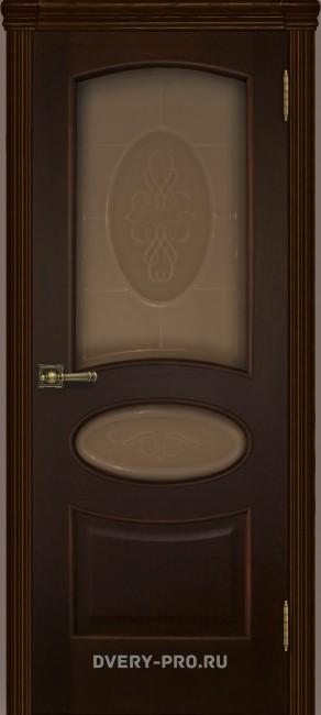 """Межкомнатная дверь """"Оливия"""", по, орех тон 2"""