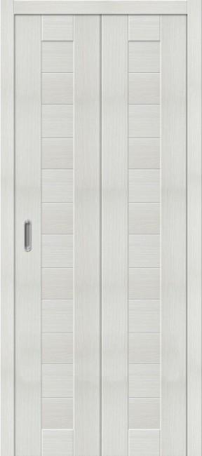 """Фото -   Складная дверь """"Порта-21"""", пг, Bianco veralinga     фото в интерьере"""