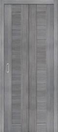 """Складная дверь """"Порта-21"""", пг, Grey veralinga"""