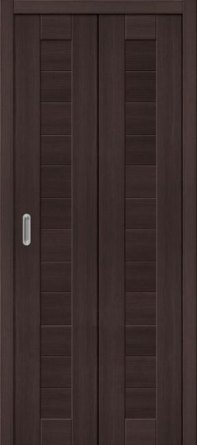"""Фото -   Складная дверь """"Порта-21"""", пг, Wenge veralinga     фото в интерьере"""