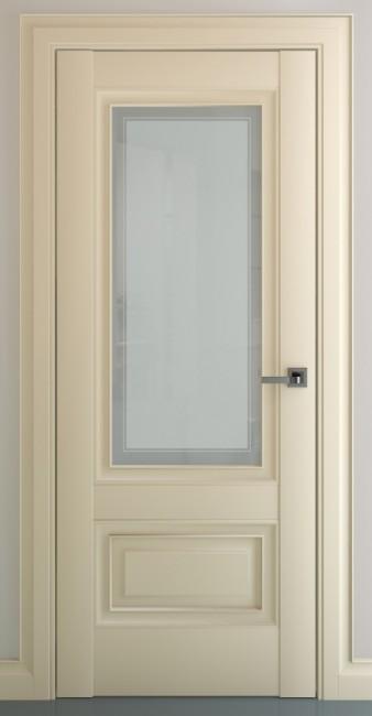 """Фото -   Межкомнатная дверь """"Турин В1"""", по, матовый крем     фото в интерьере"""