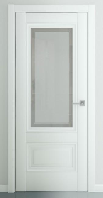 """Фото -   Межкомнатная дверь """"Турин В2"""", по, матовый белый     фото в интерьере"""