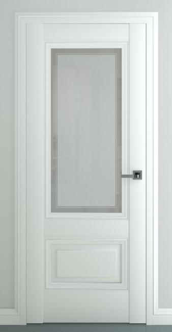 """Фото -   Межкомнатная дверь """"Турин В3"""", по, матовый белый     фото в интерьере"""