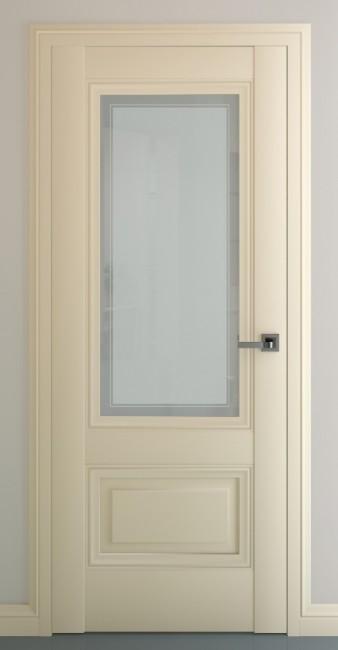 """Фото -   Межкомнатная дверь """"Турин В3"""", по, матовый крем     фото в интерьере"""