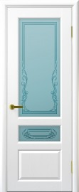 """Межкомнатная дверь """"Валенсия 2"""", по, ясень жемчуг"""