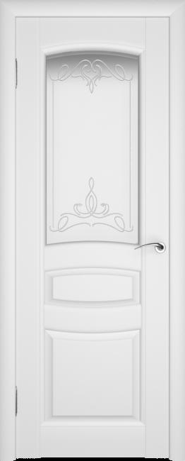 Фото -   Межкомнатная дверь ПО Этюд Белая Эмаль   | фото в интерьере