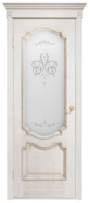 """Межкомнатная дверь """"Престиж"""", по, белый ясень"""