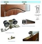 Фото -   Комплект для раздвижной двери (ручка, ролики, направляющие)     фото в интерьере
