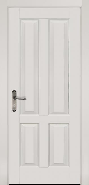 Фото -   Межкомнатная дверь Ретро, пг, белая эмаль   | фото в интерьере