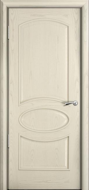 Фото -   Межкомнатная дверь Мильяна Рим, пг, ясень жемчуг     фото в интерьере