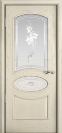Межкомнатная дверь Мильяна Рим, по, ясень жемчуг