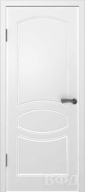 """Фото -   Межкомнатная дверь """"Родена"""", пг, белый     фото в интерьере"""