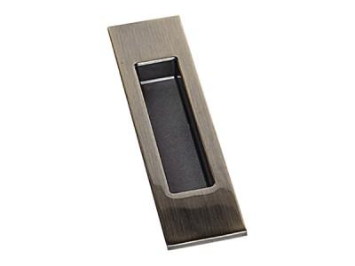 Фото -   Ручка для раздвижной двери ARNI, квадратная, старая бронза   | фото в интерьере