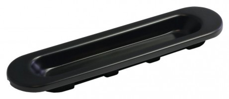 Фото -   Ручка для раздвижной двери, черная   | фото в интерьере