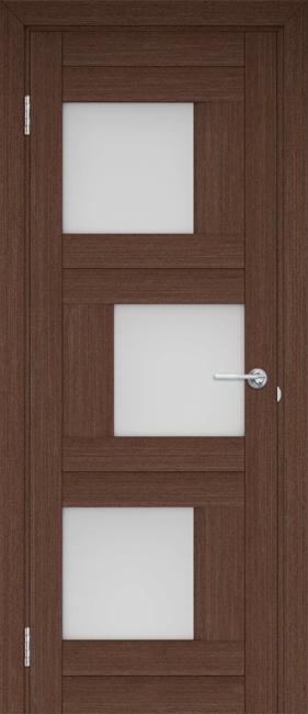"""Фото -   Межкомнатная дверь """"Шахматы"""", по, венге     фото в интерьере"""