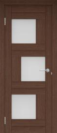 """Межкомнатная дверь """"Шахматы"""", по, венге"""