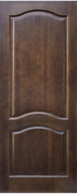 Фото -   Межкомнатная дверь 7-ДГ, темный лак   | фото в интерьере