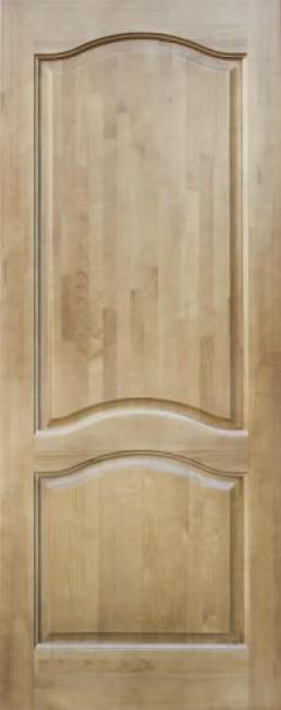 Фото -   Межкомнатная дверь 7-ДГ, светлый лак   | фото в интерьере