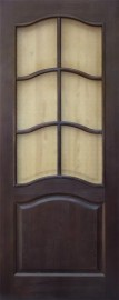 Межкомнатная дверь 7-ДО, темный лак