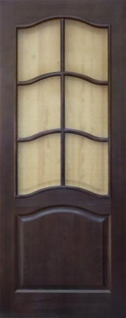 Фото -   Межкомнатная дверь 7-ДО, темный лак   | фото в интерьере