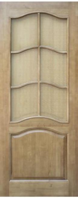 Фото -   Межкомнатная дверь 7-ДО, светлый лак   | фото в интерьере