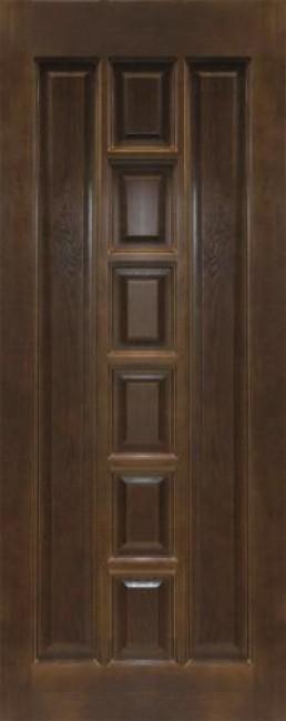 Фото -   Межкомнатная дверь 11-ДГ, темный лак   | фото в интерьере
