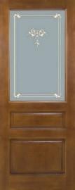 Межкомнатная дверь ПМЦ - М 5, коньяк, ПО