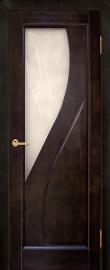 Фото -   Межкомнатная дверь Дива, венге, ПО   | фото в интерьере