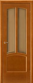 Фото -   Межкомнатная дверь Виола, медовый орех, ПО   | фото в интерьере