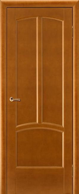 Фото -   Межкомнатная дверь Виола, медовый орех, ПГ     фото в интерьере