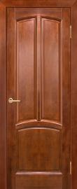 Фото -   Межкомнатная дверь Виола, бренди, ПГ   | фото в интерьере