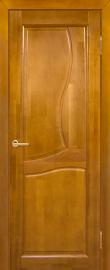 Фото -   Межкомнатная дверь Верона, медовый орех, ПГ   | фото в интерьере