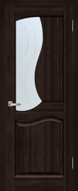 Фото -   Межкомнатная дверь Верона, венге, ПО   | фото в интерьере