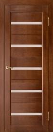 Фото -   Межкомнатная дверь Вега 5, темный орех, ПО   | фото в интерьере