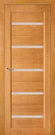 Фото -   Межкомнатная дверь Вега 5, светлый орех, ПО   | фото в интерьере