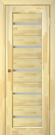 Фото -   Межкомнатная дверь Вега 5, неокрашенная, ПО   | фото в интерьере