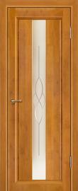 Фото -   Межкомнатная дверь Версаль, медовый орех, ПО   | фото в интерьере