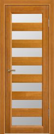 Фото -   Межкомнатная дверь Премьер плюс, медовый орех, ПО   | фото в интерьере