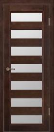 Фото -   Межкомнатная дверь Премьер плюс, венге, ПО   | фото в интерьере
