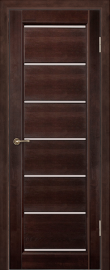 Фото -   Межкомнатная дверь Премьер Плюс венге, ЧО   | фото в интерьере